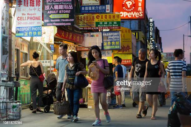 chinatown flushing new york city - flushing queens stock pictures, royalty-free photos & images