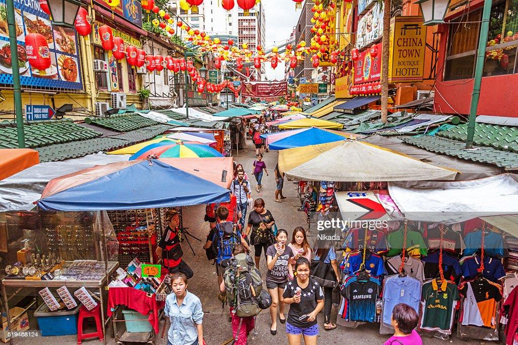 Chinatown em Kuala Lumpur, Malásia : Foto de stock