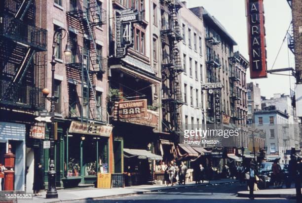 Chinatown in New York City circa 1950