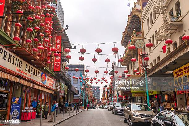 chinatown in san francisco, california - san francisco chinatown stock photos and pictures