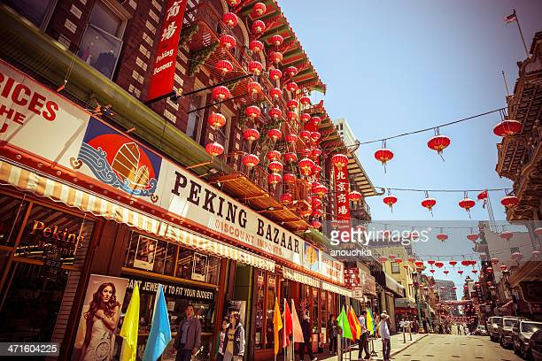 chinatown in san francisco - san francisco chinatown stock photos and pictures