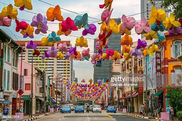 chinatown in singapore - シンガポール文化 ストックフォトと画像