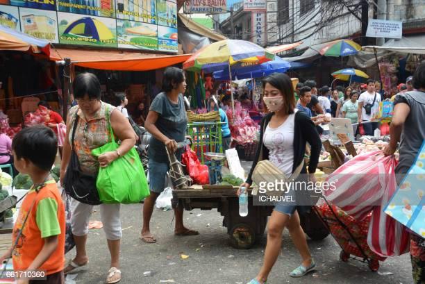 chinatown manila philippines - personne humaine stock-fotos und bilder
