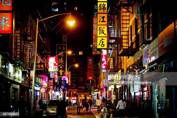 Chinatown New York City by night