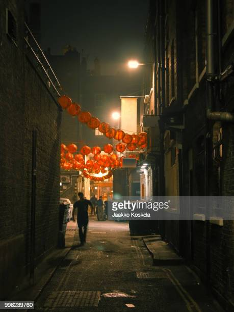 chinatown nights - chinatown stock pictures, royalty-free photos & images