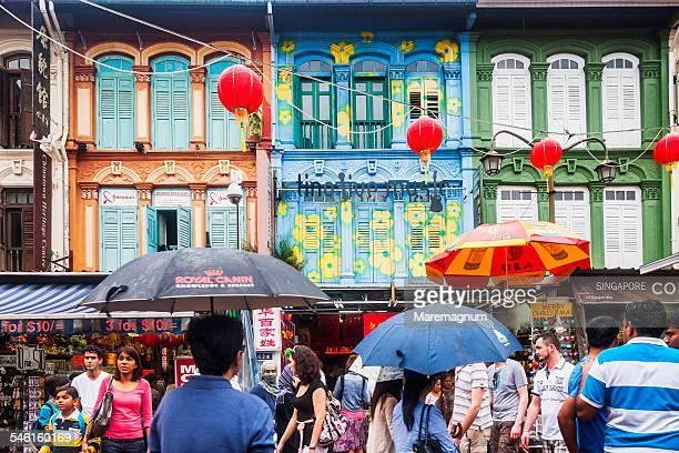 Chinatown, Pagoda street in a rainy day