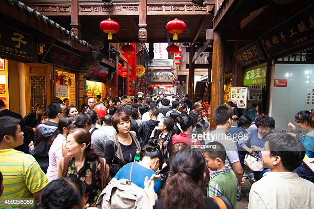chinatown - chongqing stock photos and pictures