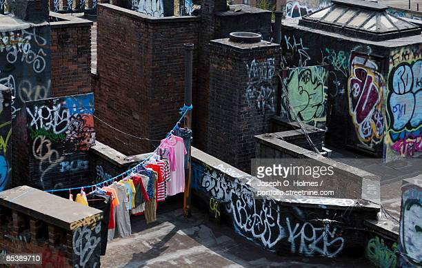 Chinatown Rooftop Clothesline