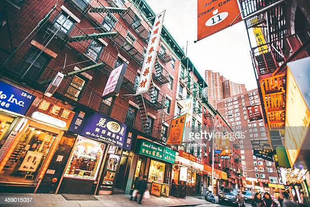 chinatown streets. - chinatown stock pictures, royalty-free photos & images