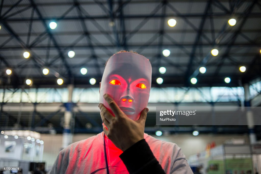 A skin-healing mask exhibited at the China-Ukraine Scientific Exhibition of Technologies and Innovations.
