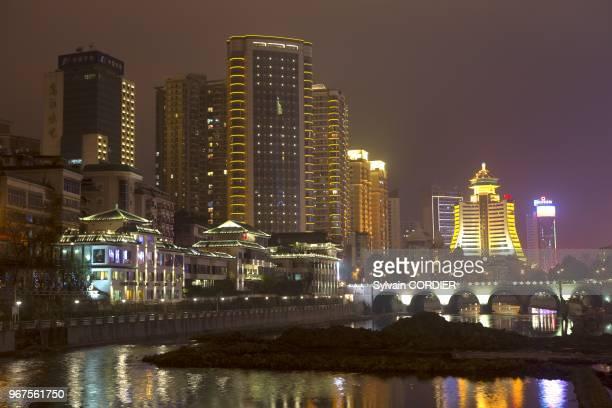 Chine, province du Guizhou, Guiyang, ville capitale de la province. China, Guizhou province, Guiyang, headtown of the province.