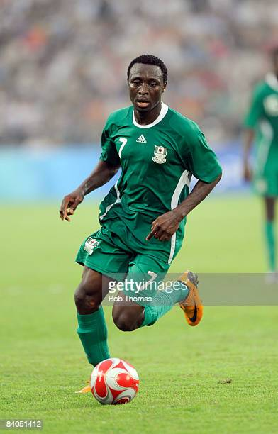 Chinedu Ogbuke Obasi of Nigeria during the Men's First Round Group B match between Nigeria and the United States at the Workers' Stadium on Day 5 of...