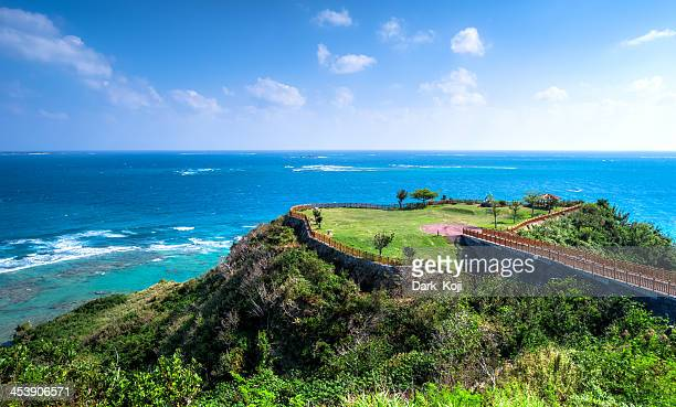 chinen cape | okinawa - okinawa prefecture stock pictures, royalty-free photos & images