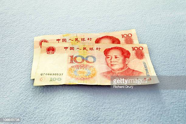 Chinese 100 Yuan bank notes