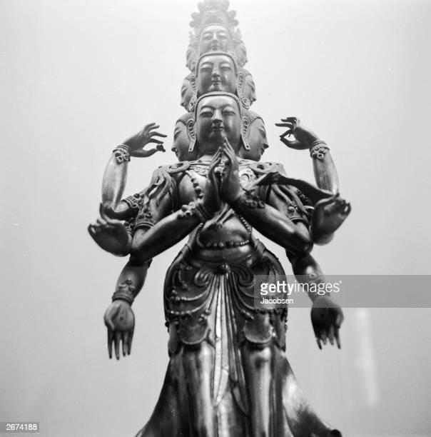 A Chinese 15inch gilt bronze image of Avalokitesvara