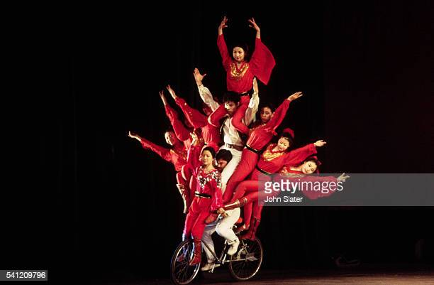 Chinese Acrobats on Bicycle