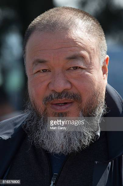 Chinese activist and artist Ai Weiwei at the Idomeni refugee camp on the Greek Macedonia border on March 18 2016 in Idomeni Greece Many of the...