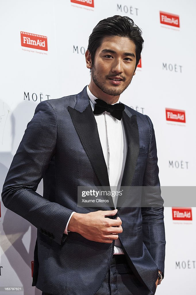 Chinese actor Godfrey Gao attends at the Moet & Chandon and FilmAid Asia Power of Film Gala at Clear Water Bay Film Studios on March 16, 2013 in Hong Kong, Hong Kong.