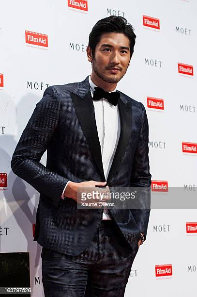 Chinese actor Godfrey Gao attends at the Moet Chandon and FilmAid Asia Power of Film Gala at Clear Water Bay Film Studios on March 16 2013 in Hong...