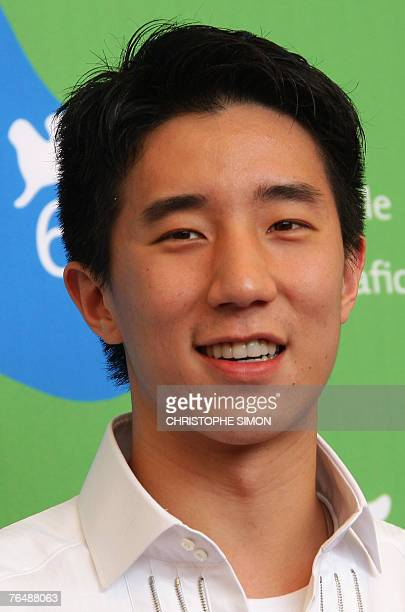 Chinese actor Jaycee Chan poses during a photocall of Taiyang Zhaochang Shengqi during the 64th Venice International Film Festival at Venice Lido 03...