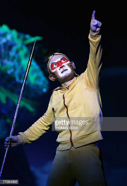 A Chinese actor performs in the Monkey journey to the west opera 26 September 2007 at the Theatre du Chatelet in Paris Concepted and directed by Chen...