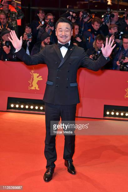 Chinese actor Wang Jingchun arrives for the closing ceremony of the 69th Berlinale International Film Festival Berlin at Berlinale Palace on February...