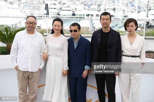 Chinese actor Zhang Yibai Chinese actress Zhao Tao Chinese director Jia ZhangKe Chinese actor Liao Fan and guest attend the photocall for the 'Ash Is...
