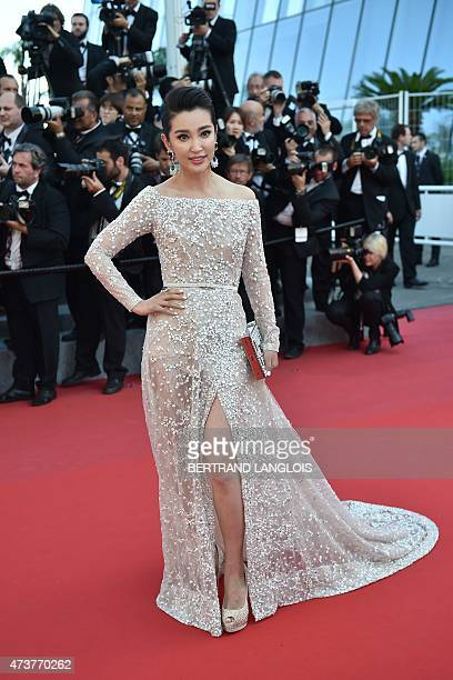 Chinese actress and singer Li Bingbing poses as she arrives for the screening of the film 'Asphalte' at the 68th Cannes Film Festival in Cannes...