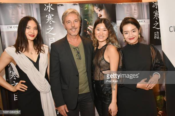 Chinese actress Cecelia Yuan Zhenzhen actor Tristan Lignier chinese actresses Anne Hui Zhan and Zoe Jue Zheng attend the Mustafa Ozgun 3 Short Movies...