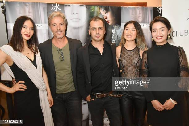 Chinese actress Cecelia Yuan Zhenzhen actor Tristan Lignier director Mustafa Ozgun chinese actresses Anne Hui Zhan and Zoe Jue Zheng attend the...