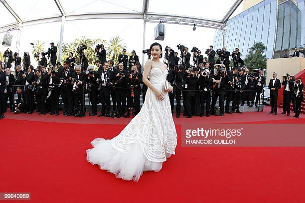 Chinese actress Fan Bing Bing arrives for the screening of Biutiful presented in competition at the 63rd Cannes Film Festival on May 17 2010 in...
