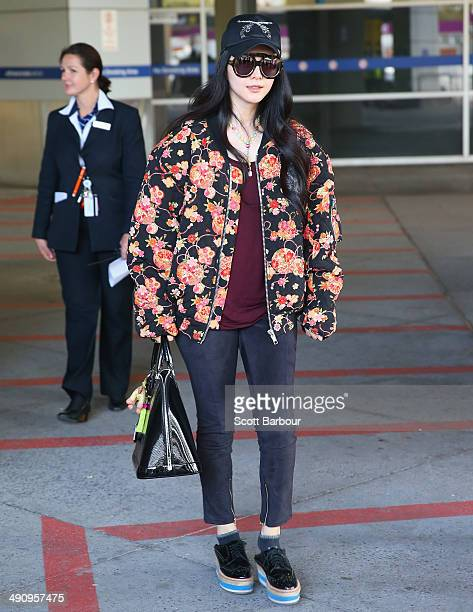 Chinese actress Fan Bingbing arrives at Melbourne International Airport on May 16 2014 in Melbourne Australia