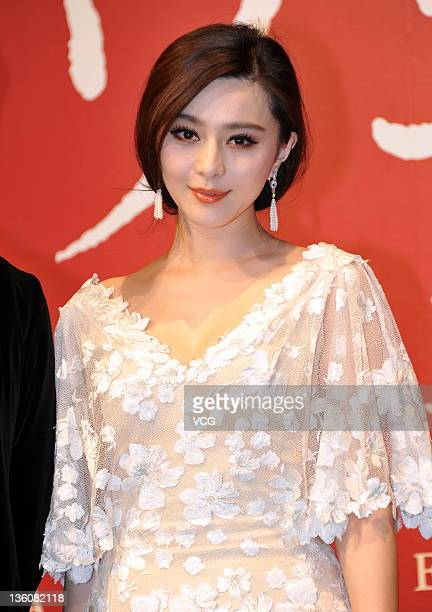 Chinese actress Fan Bingbing attends My Way press conference on December 19 2011 in Tokyo Japan