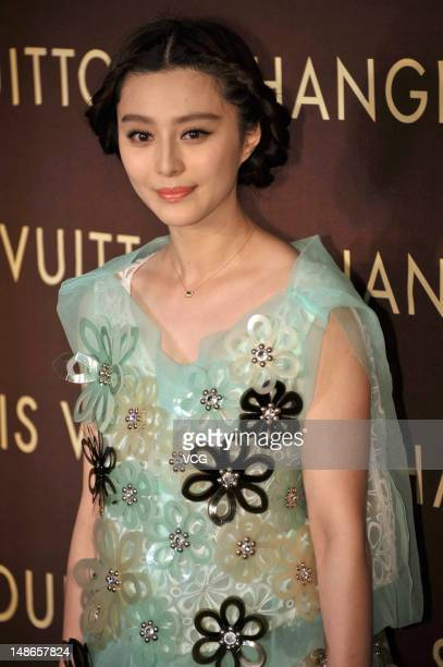 Chinese actress Fan Bingbing attends the Louis Vuitton New Flagship Store opening on July 18 2012 in Shanghai China