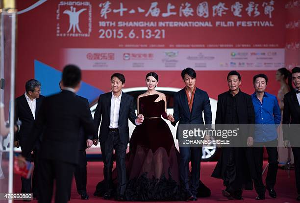 Chinese actress Fan Bingbing attends the opening ceremony of the Shanghai International Film Festival in Shanghai on June 13 2015 The 18th Shanghai...