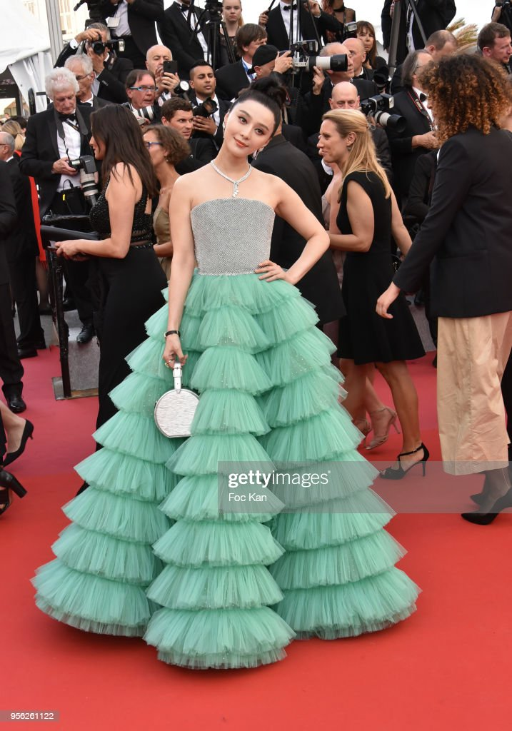 Chinese actress Fan Bingbing attends the screening of 'Everybody Knows (Todos Lo Saben)' and the opening gala during the 71st annual Cannes Film Festival at Palais des Festivals on May 8, 2018 in Cannes, France.
