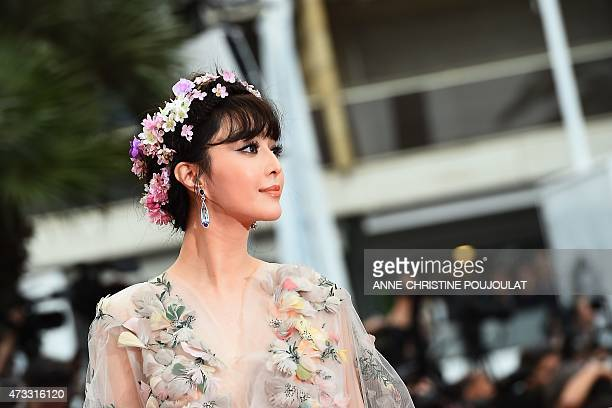 Chinese actress Fan Bingbing poses as she arrives for the screening of the film Mad Max Fury Road during the 68th Cannes Film Festival in Cannes...