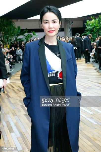 Chinese actress Faye Wong attends the Celine show as part of the Paris Fashion Week Womenswear Fall/Winter 20142015 on March 2 2014 in Paris France