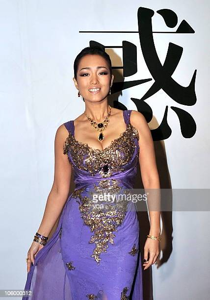 Chinese actress Gong Li attends the press conference for China Fashion Week Spring/Summer 2010/11 at National Convention Center on October 24 2010 in...