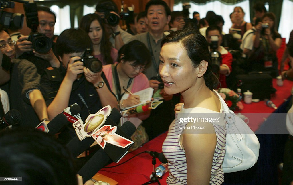 Chinese actress Joan Chen attends a press conference at the 8th Shanghai International Film Festival on June 14, 2005 in Shanghai, China. Chen is invited to be one of the judge members of the 8th Shanghai International Film Festival.