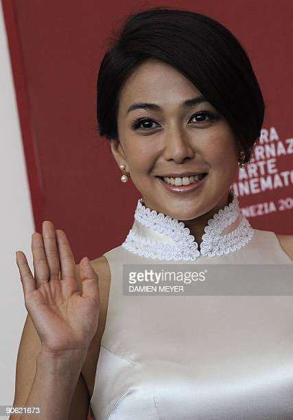 Chinese actress Wu Anya poses during the photocall of 'Chengdu wo ai ni' at the Venice film festival on September 12 2009 'Chengdu wo ai ni' is...