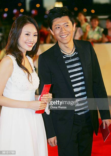 """Chinese actress Yuan Quan and actor Xia Yu arrive at the awards ceremony of the 25th China Golden Rooster Awards, dubbed as """"China's Oscar"""" on..."""