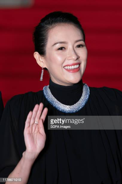 Chinese actress Zhang Ziyi arrives at the opening ceremony of Tokyo International Film Festival 2019.