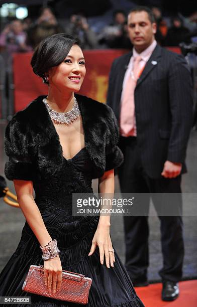 Chinese actress Zhang Ziyi arrives for the screening of the film Forever enthralled by Chinese director Chen Kaige and presented in in competition at...
