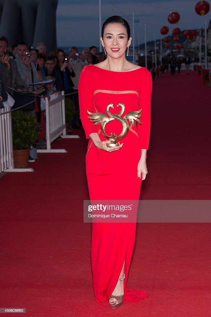 Chinese actress Zhang Ziyi awarded 'Swan d'honneur' during the 28th Cabourg Film Festival : Day 4 on June 14, 2014 in Cabourg, France.