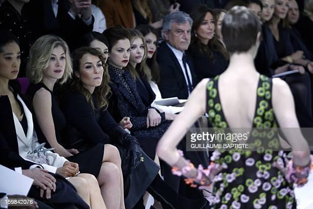 Chinese actress Zhang Ziyi British actress Ruth Wilson US actress Chloe Grace Moretz French actress Laetitia Casta Christian Dior CEO Sidney Toledano...