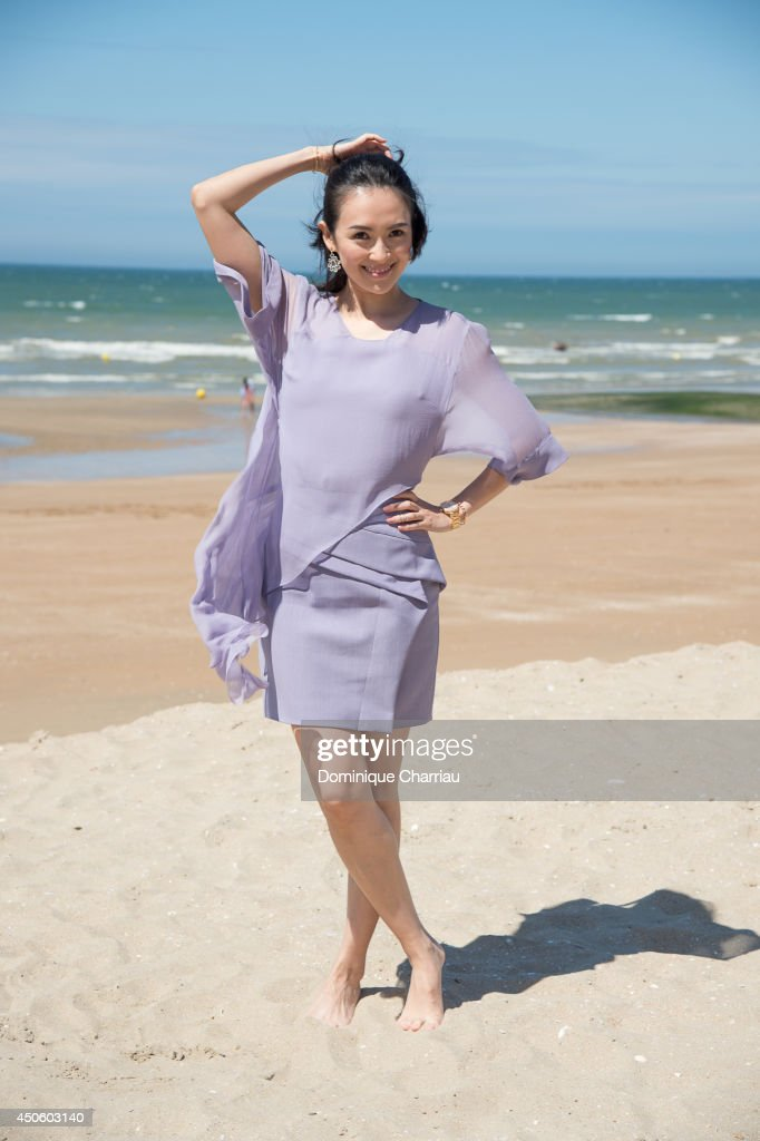 Chinese actress Zhang Ziyi poses for a photocall during the 28th Cabourg Film Festival on June 14, 2014 in Cabourg, France.