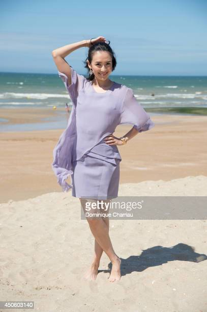 Chinese actress Zhang Ziyi poses for a photocall during the 28th Cabourg Film Festival on June 14 2014 in Cabourg France