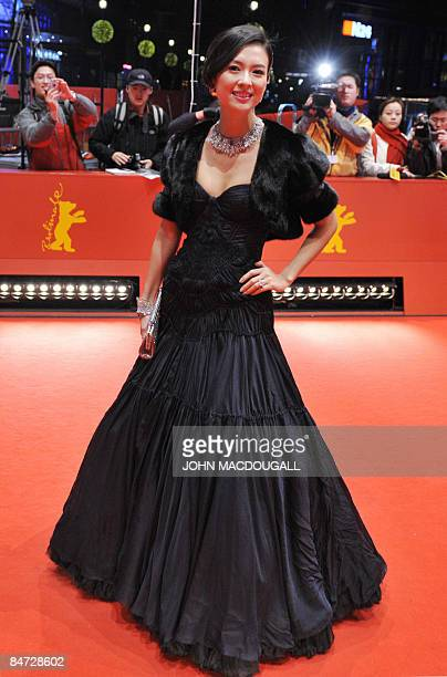 Chinese actress Zhang Ziyi poses on the red carpet as she arrives for the screening for the film Forever enthralled by Chinese director Chen Kaige...
