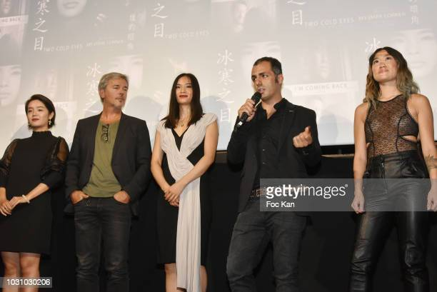 Chinese actress Zoe Jue Zheng actor Tristan Lignier actress Cecelia Yuan Zhenzhen director Mustafa Ozgun and chinese actress Anne Hui Zhan attend the...
